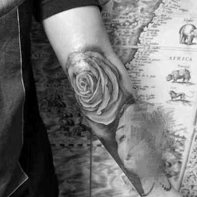玫瑰花纹身款式图