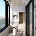 100平米三室两厅美式风格阳台图片