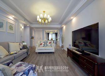 富裕型100平米三室两厅美式风格客厅装修效果图