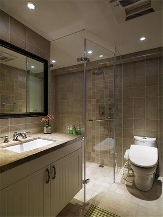 100平米三室一厅田园风格卫生间浴室柜装修案例