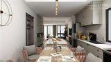 130平米四室两厅混搭风格餐厅设计图