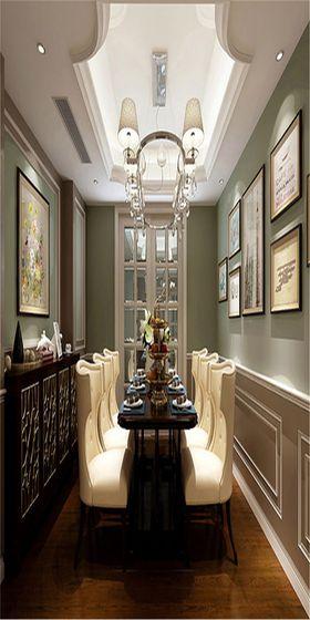 140平米四美式風格餐廳圖片