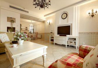 140平米三室两厅田园风格客厅装修案例