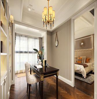 120平米三室一厅欧式风格书房图片大全