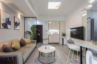 60平米一室两厅混搭风格客厅装修效果图