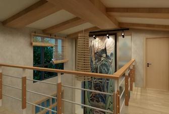 80平米现代简约风格阁楼图片