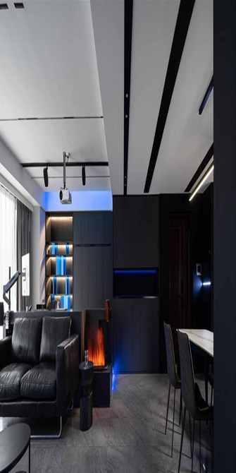 130平米三室四厅现代简约风格餐厅设计图