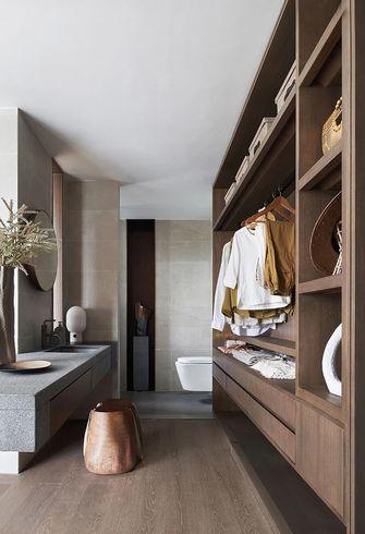 140平米三室两厅中式风格衣帽间设计图