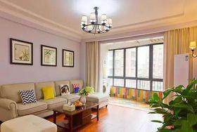 80平米美式風格客廳欣賞圖