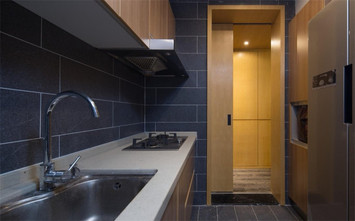 60平米现代简约风格厨房设计图