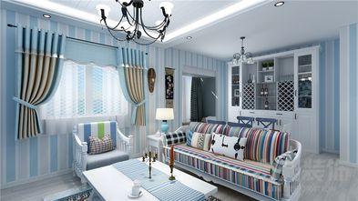 80平米公寓地中海风格客厅装修图片大全