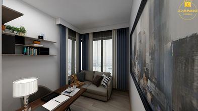 130平米四室两厅现代简约风格书房图