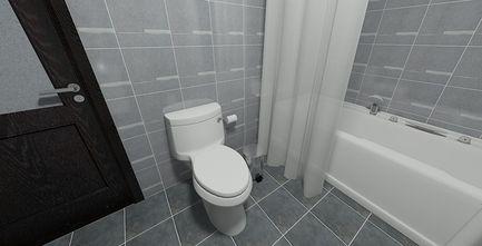 70平米中式风格卫生间设计图