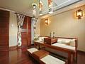 140平米别墅东南亚风格书房欣赏图