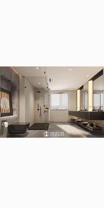 140平米三室两厅田园风格卫生间设计图