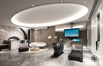 140平米别墅现代简约风格健身室图片