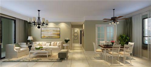 富裕型90平米三室两厅现代简约风格餐厅装修效果图