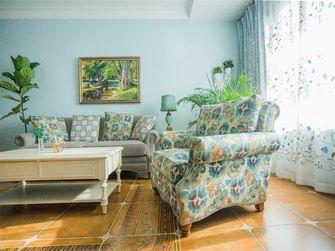 110平米三室一厅田园风格客厅装修图片大全