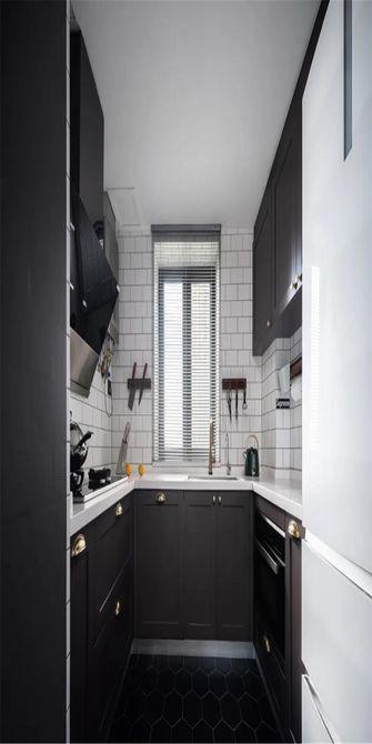 130平米三室一厅新古典风格厨房欣赏图