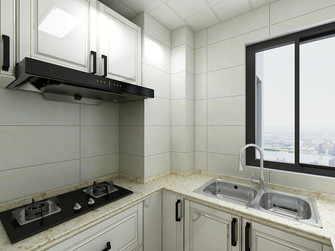 60平米三田园风格厨房效果图