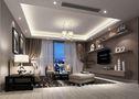 140平米四室两厅现代简约风格客厅吊顶图片
