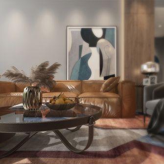 130平米三中式风格客厅设计图