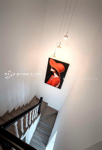 80平米三室两厅混搭风格楼梯间装修图片大全