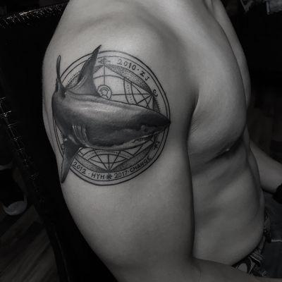 写实组合风格纹身款式图