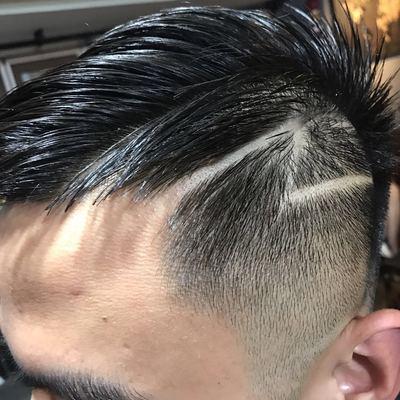 复古剪发效果图