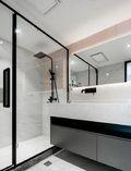 120平米一居室现代简约风格卫生间图片