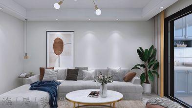 90平米三现代简约风格客厅图