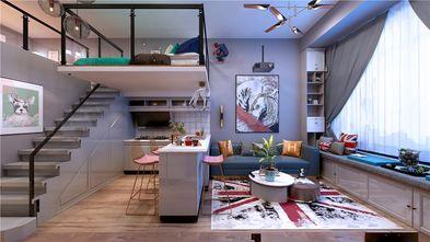 130平米复式混搭风格客厅装修效果图