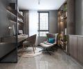 120平米三室一厅宜家风格书房装修案例