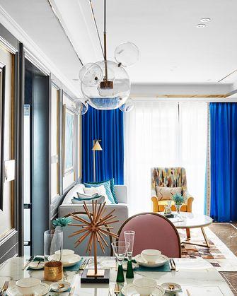 80平米一室一厅法式风格餐厅装修图片大全