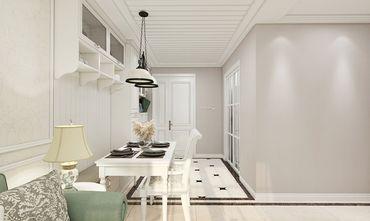 100平米三室一厅田园风格餐厅图
