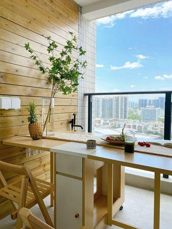 60平米三室一厅日式风格阳台效果图