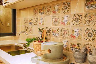 140平米四室一厅田园风格厨房欣赏图
