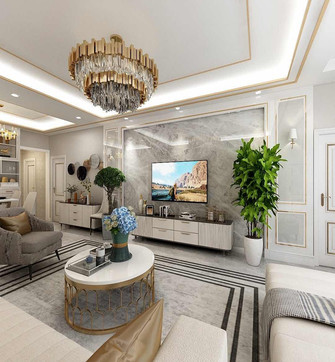 140平米四法式风格客厅图