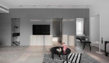 90平米三室一厅现代简约风格客厅设计图