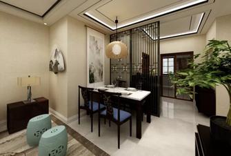 80平米中式风格餐厅图片