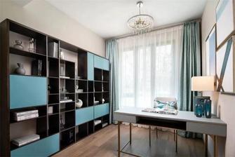 120平米四室两厅混搭风格书房图