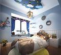 120平米四室两厅地中海风格卧室图片大全