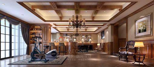 140平米别墅英伦风格健身室设计图
