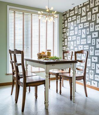 110平米三室一厅美式风格餐厅图片