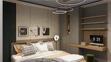 130平米三室两厅地中海风格卧室图片