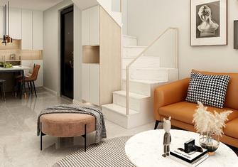80平米三室两厅北欧风格楼梯间装修效果图