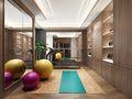 140平米四室两厅中式风格健身室图