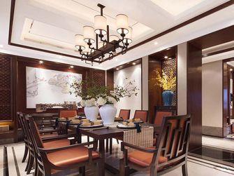 140平米四室两厅中式风格餐厅背景墙图