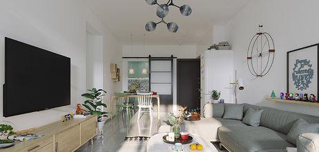 110平米四室一厅混搭风格客厅图
