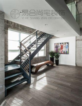 140平米三室两厅美式风格楼梯间图片